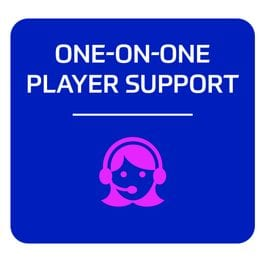 One-on-one player support services icon