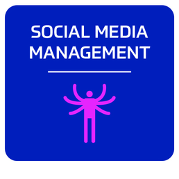 Social media management services icon