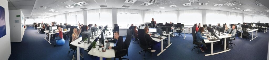 The interior of Keywords Studios Katowice officers in Poland
